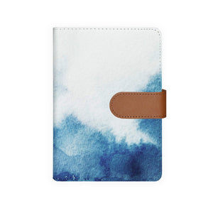 front view of personalized personal organiser with Abstract Ink Painting design