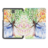 the whole printed area of Personalized Samsung Galaxy Tab Case with Watercolor Flower design