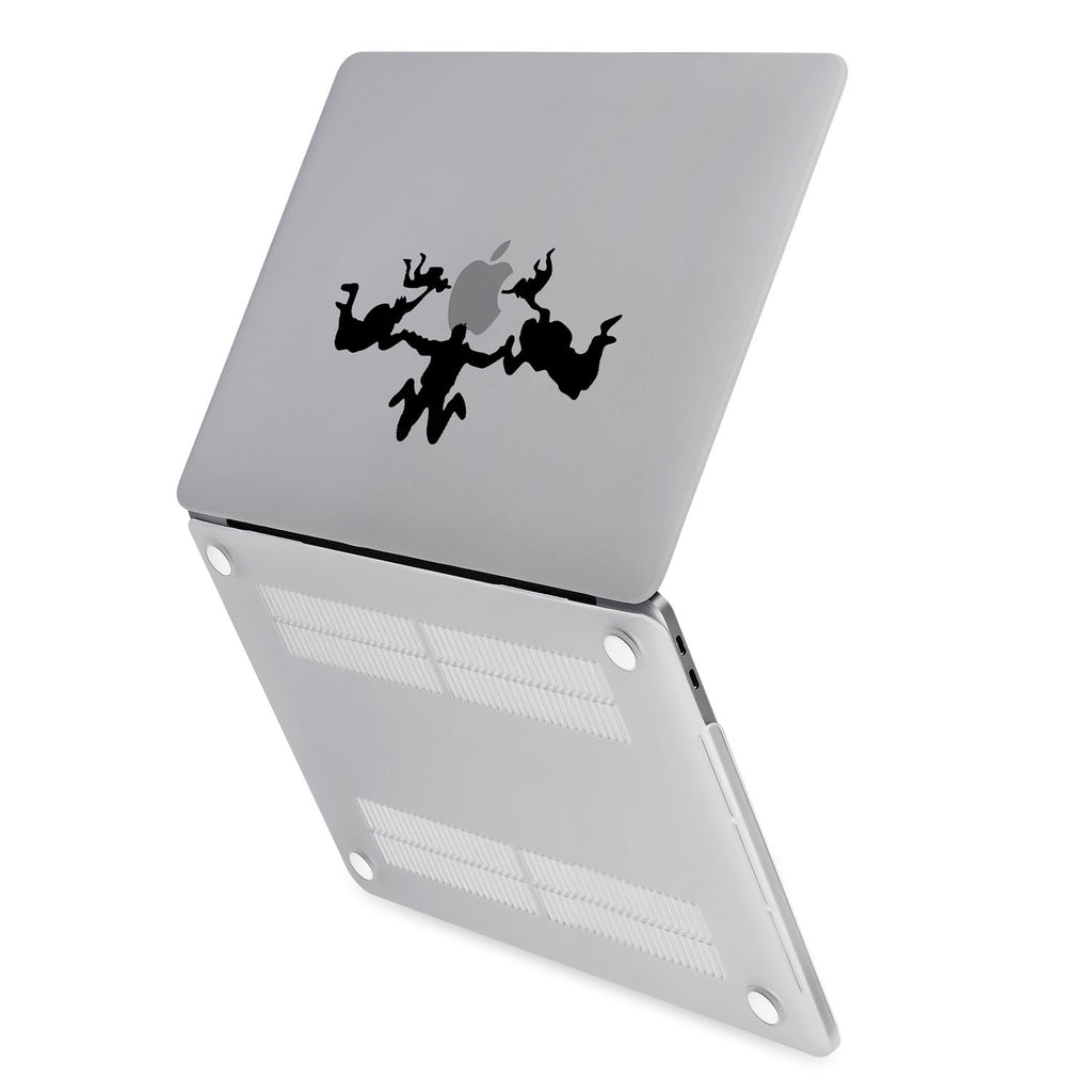 hardshell case with Extreme Sports design has rubberized feet that keeps your MacBook from sliding on smooth surfaces