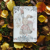 personalized RFID blocking passport travel wallet with Fairy Rabbits design on maple leafs