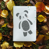 personalized RFID blocking passport travel wallet with Cute Animals design on maple leafs
