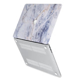 hardshell case with Marble design has rubberized feet that keeps your MacBook from sliding on smooth surfaces