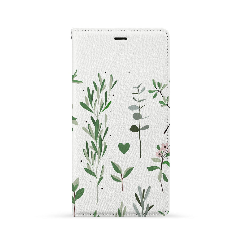 Front Side of Personalized iPhone Wallet Case with Flat Flower design