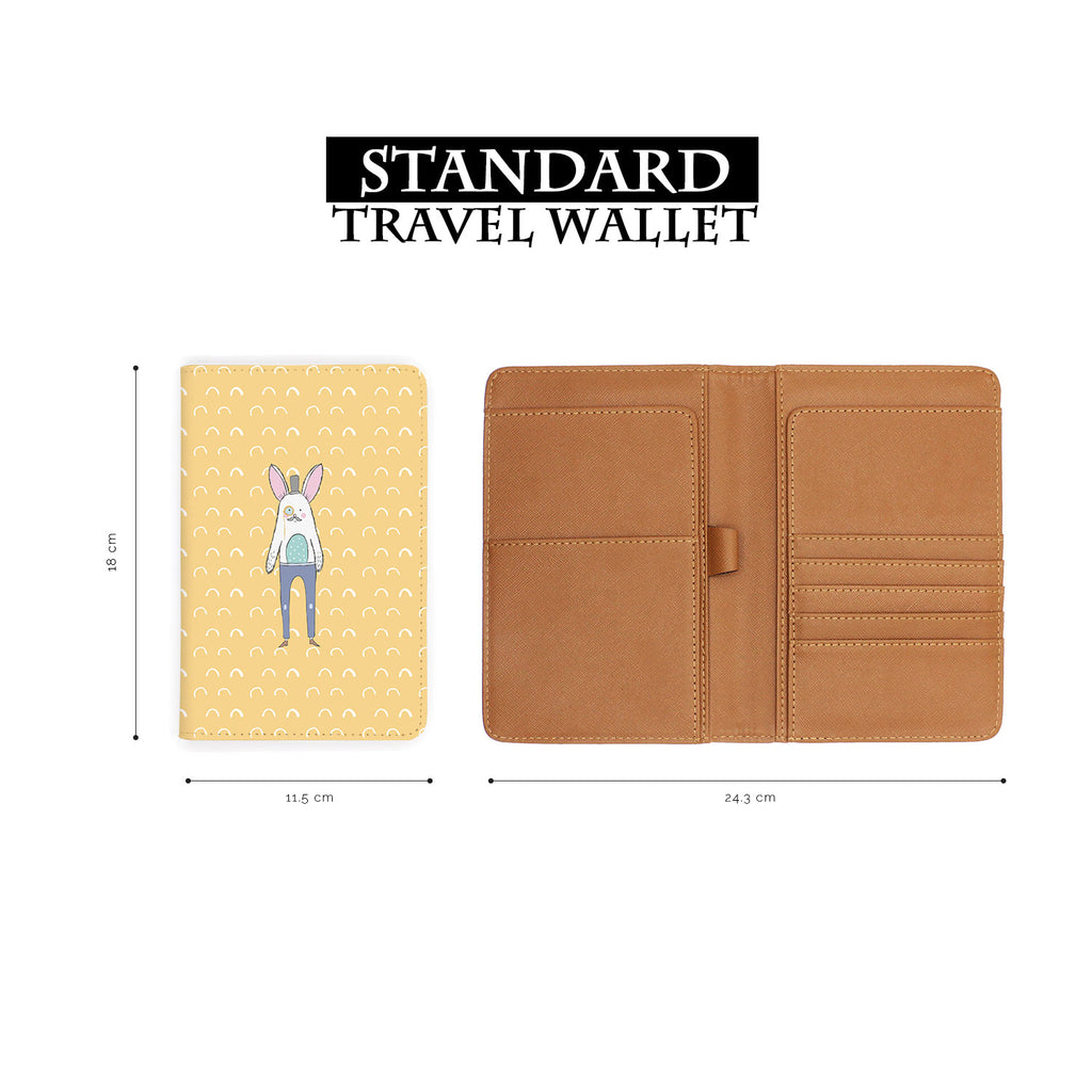 standard size of personalized RFID blocking passport travel wallet with Adventure Collection design
