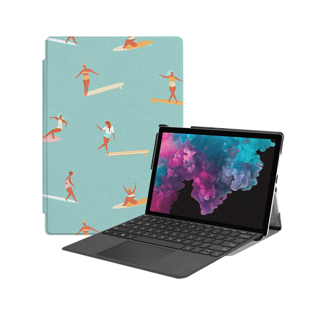 the Hero Image of Personalized Microsoft Surface Pro and Go Case with Summer design