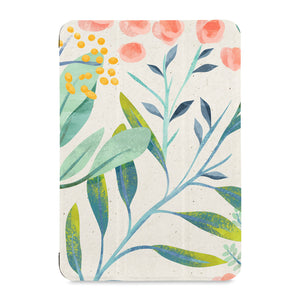the front view of Personalized Samsung Galaxy Tab Case with Pink Flower design