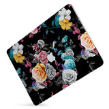 Protect your macbook  with the #1 best-selling hardshell case with Black Flower design