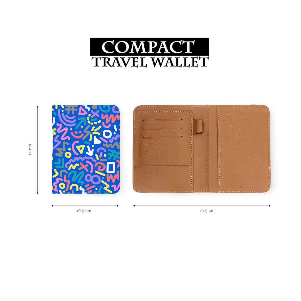 compact size of personalized RFID blocking passport travel wallet with 90 Patterns design