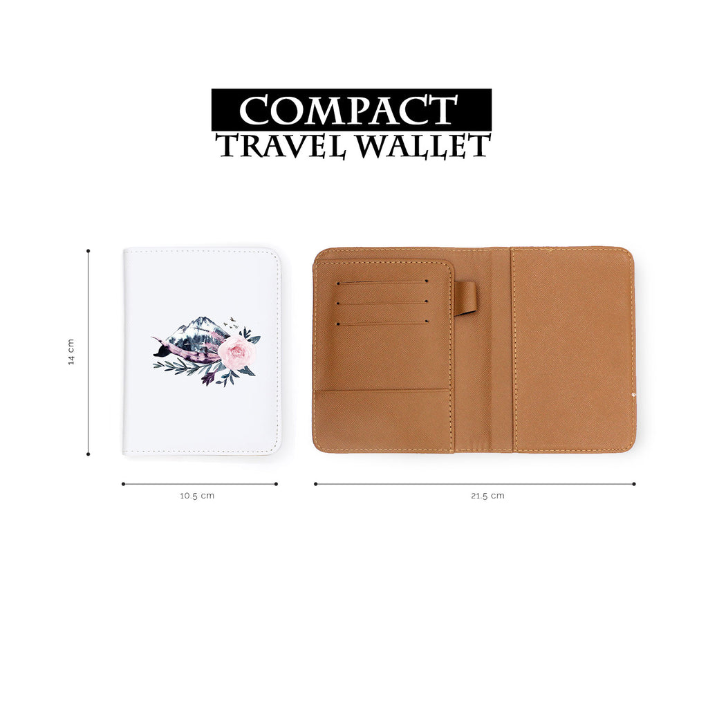compact size of personalized RFID blocking passport travel wallet with Animals Of The Ghost design