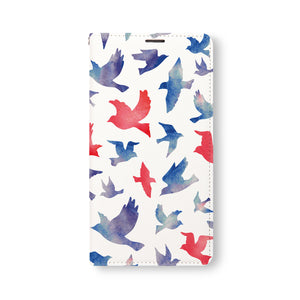 Front Side of Personalized Samsung Galaxy Wallet Case with Bird design