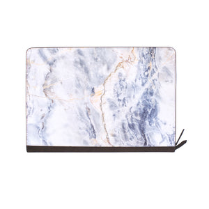 front view of personalized Macbook carry bag case with Marble design