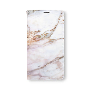 Front Side of Personalized Samsung Galaxy Wallet Case with Marble2 design