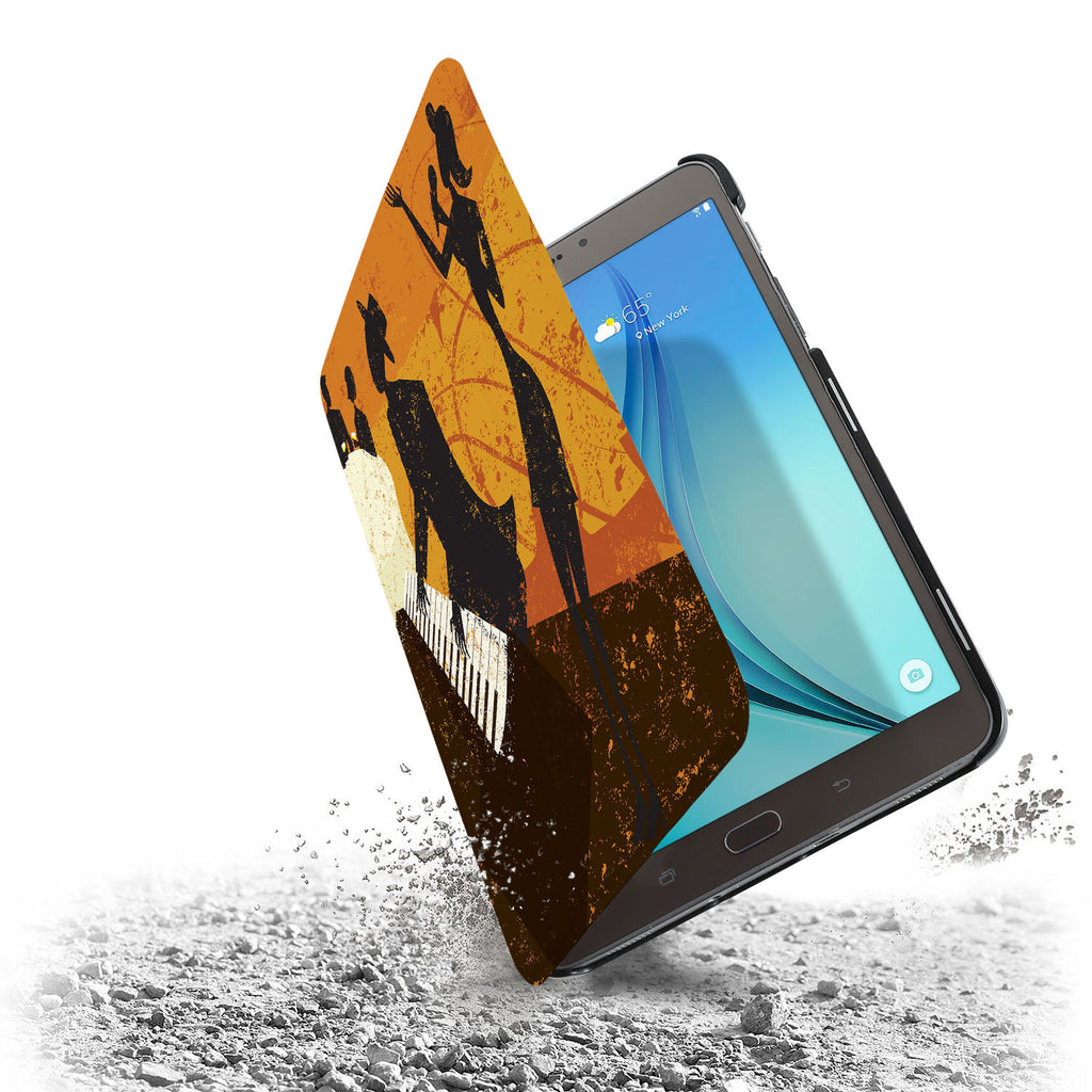 the drop protection feature of Personalized Samsung Galaxy Tab Case with Music design