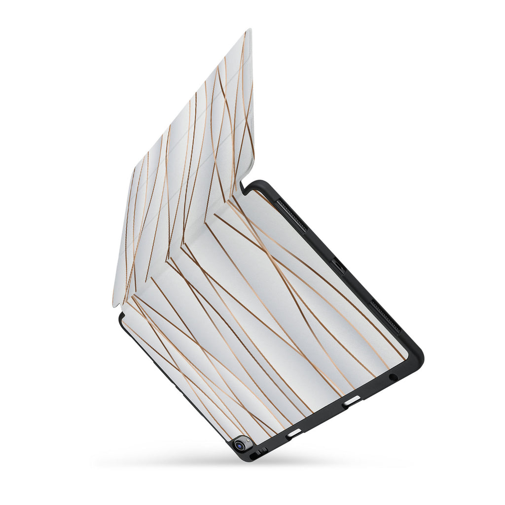 personalized iPad case with pencil holder and Luxury design