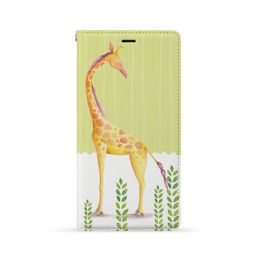 Front Side of Personalized iPhone Wallet Case with Cutest Forest Friends design
