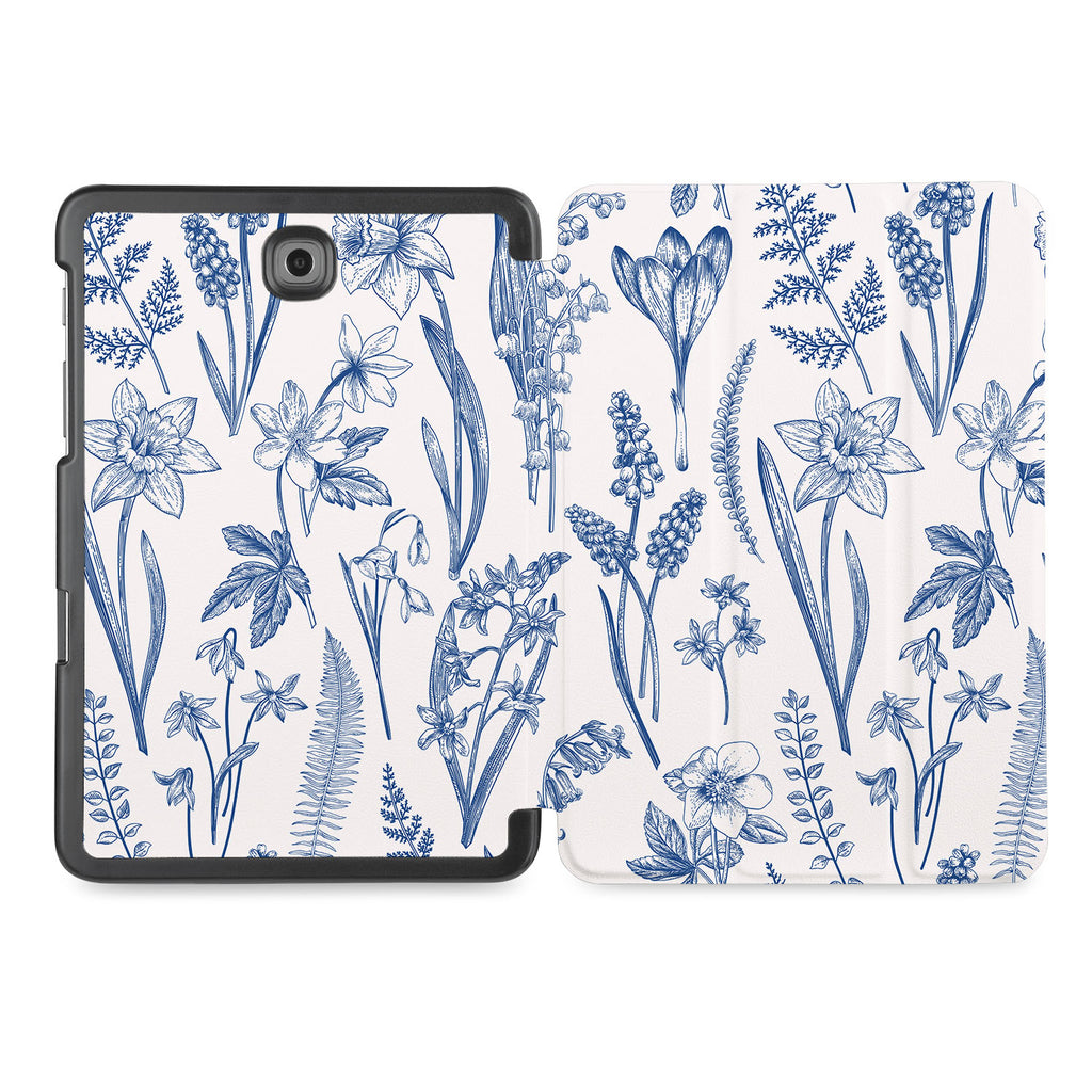 the whole printed area of Personalized Samsung Galaxy Tab Case with Flower design