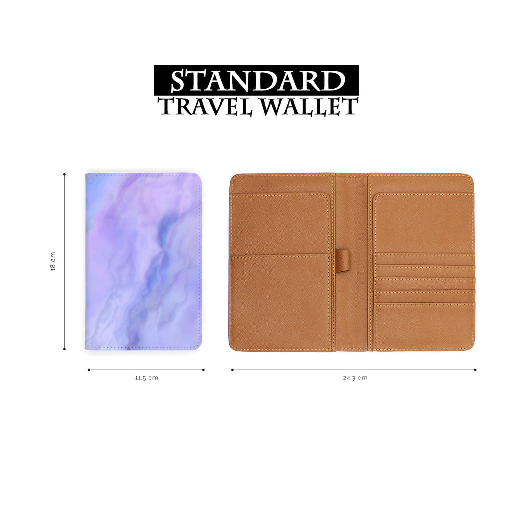standard size of personalized RFID blocking passport travel wallet with Abstract Art design