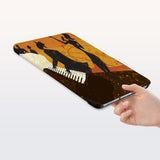 a hand is holding the Personalized Samsung Galaxy Tab Case with Music design