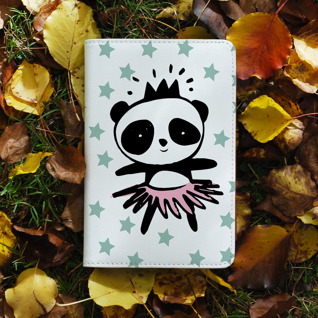 personalized RFID blocking passport travel wallet with Pandas design on maple leafs