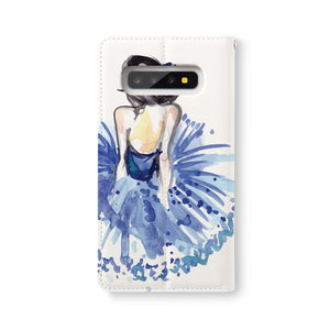 Back Side of Personalized Samsung Galaxy Wallet Case with Musician design - swap