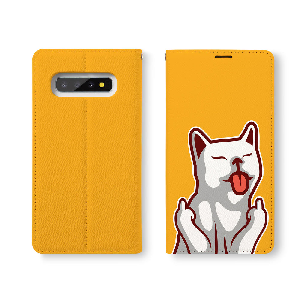 Personalized Samsung Galaxy Wallet Case with Cat Fun desig marries a wallet with an Samsung case, combining two of your must-have items into one brilliant design Wallet Case.