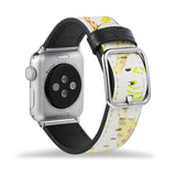 Printed Leather Apple Watch Band with Animals design Like all Apple Watch bands, you can match this band with any Apple Watch case of the same size