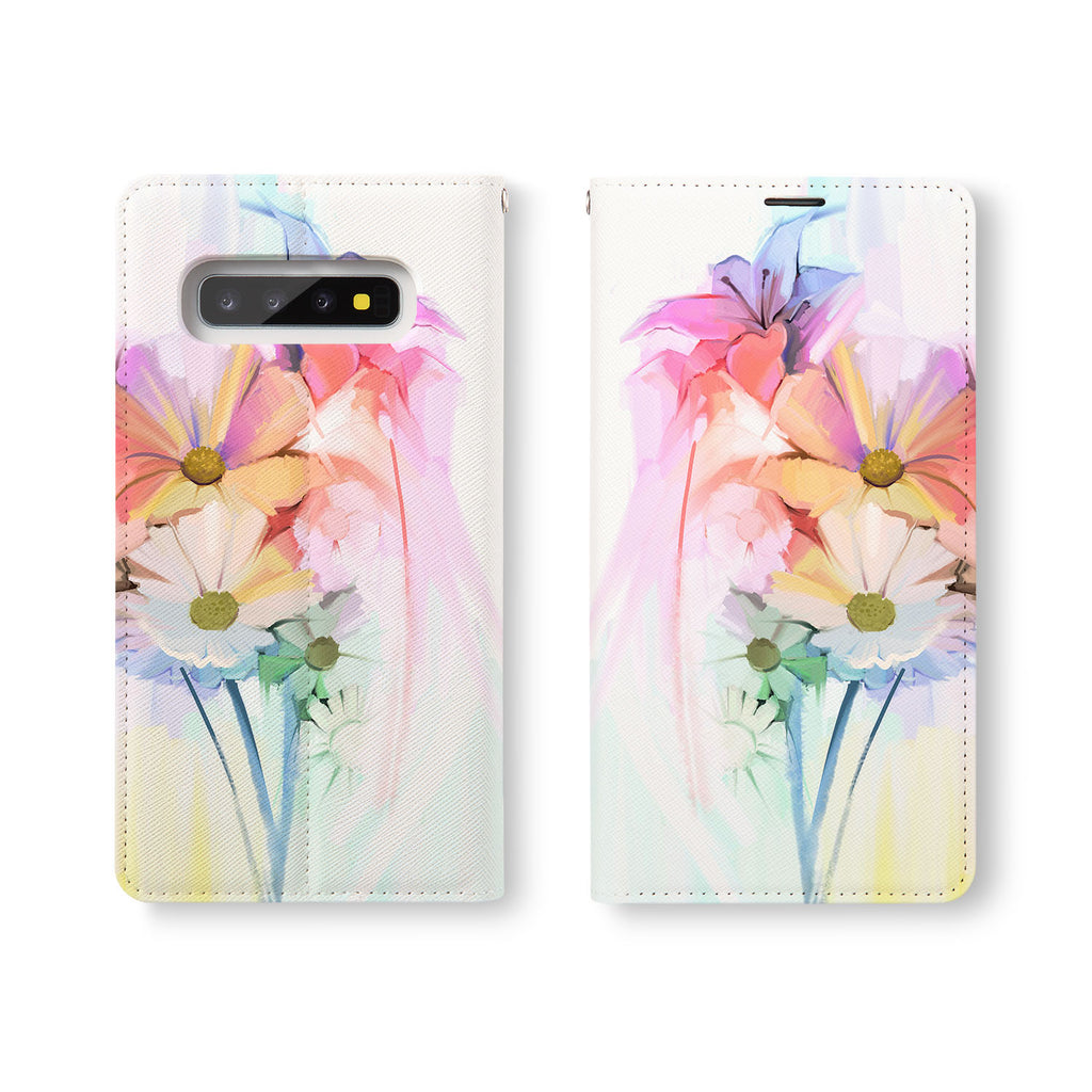 Personalized Samsung Galaxy Wallet Case with WatercolorFlower2 desig marries a wallet with an Samsung case, combining two of your must-have items into one brilliant design Wallet Case.