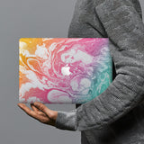 hardshell case with Abstract Oil Painting design combines a sleek hardshell design with vibrant colors for stylish protection against scratches, dents, and bumps for your Macbook