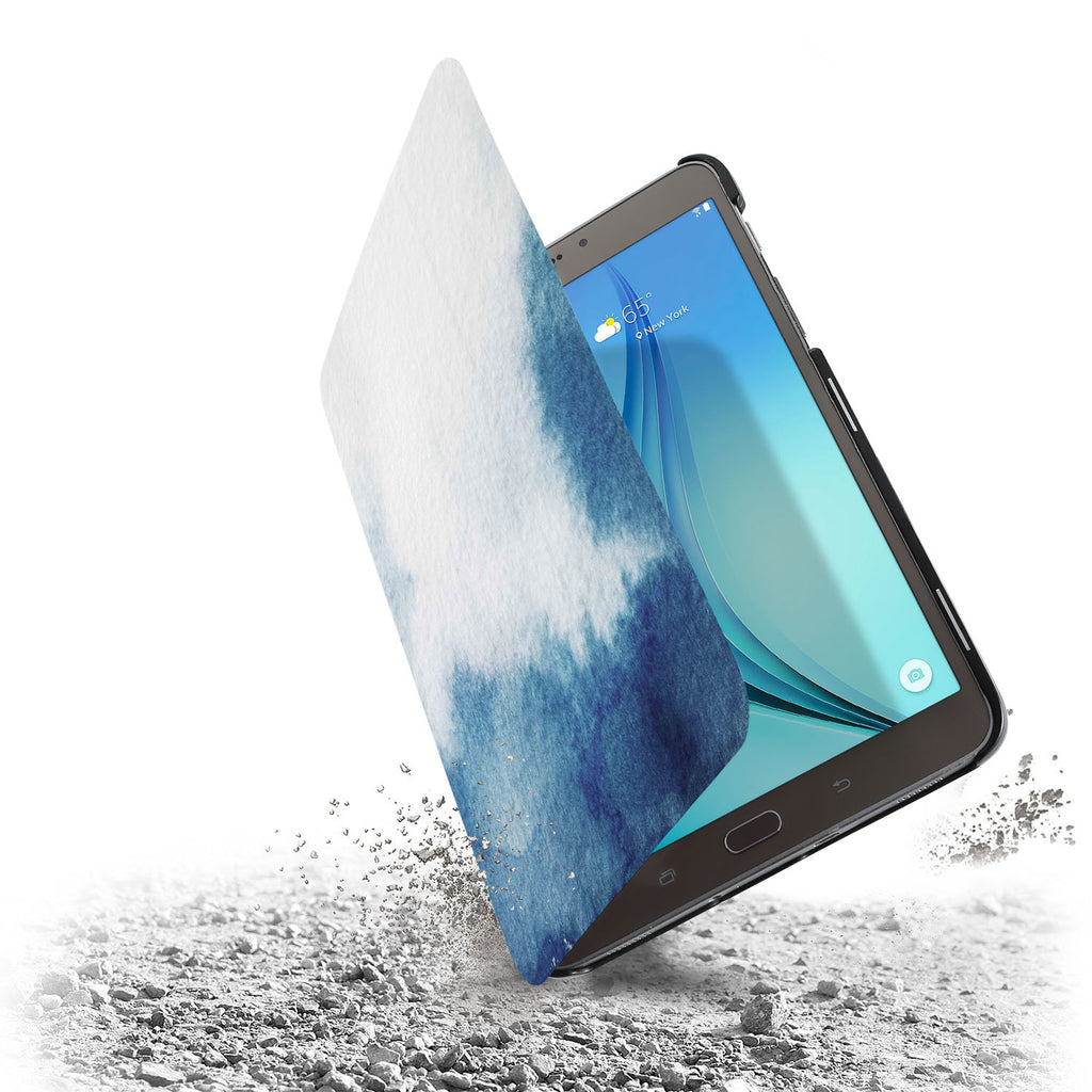 the drop protection feature of Personalized Samsung Galaxy Tab Case with Abstract Ink Painting design