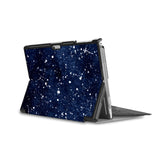 the back side of Personalized Microsoft Surface Pro and Go Case in Movie Stand View with Galaxy Universe design - swap