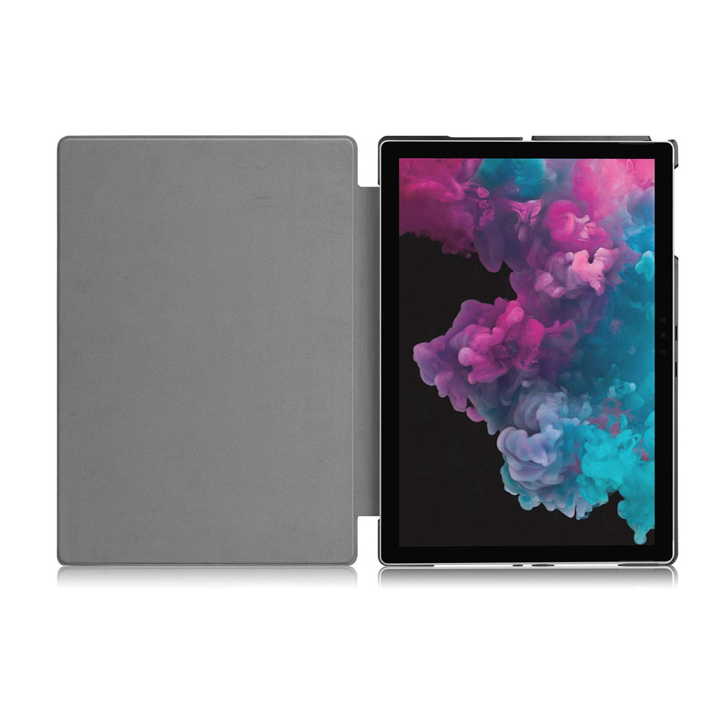 The open side of Personalized Microsoft Surface Pro and Go Case with Tropical Leaves design