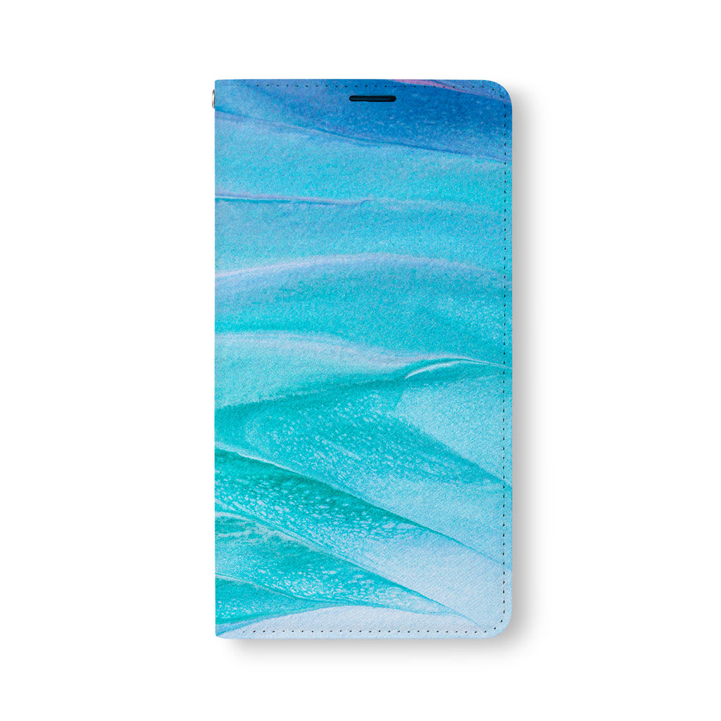 Front Side of Personalized Samsung Galaxy Wallet Case with AbstractPainting2 design
