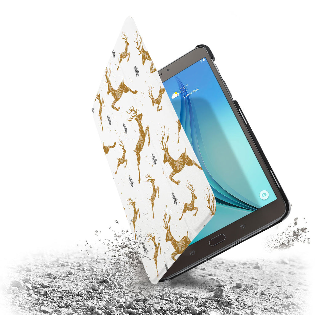 the drop protection feature of Personalized Samsung Galaxy Tab Case with Christmas design