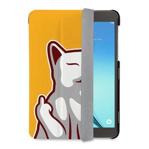 auto on off function of Personalized Samsung Galaxy Tab Case with Cat Fun design - swap