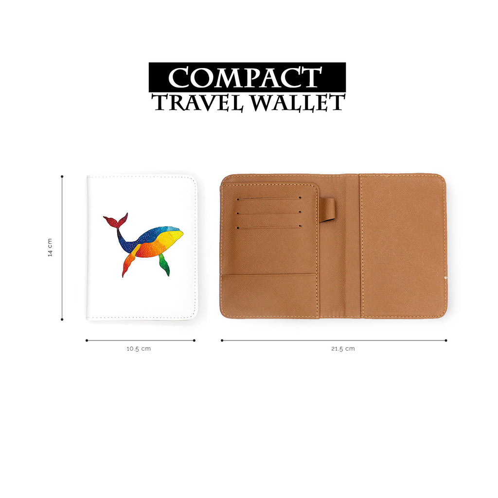 compact size of personalized RFID blocking passport travel wallet with Ocean Creature design