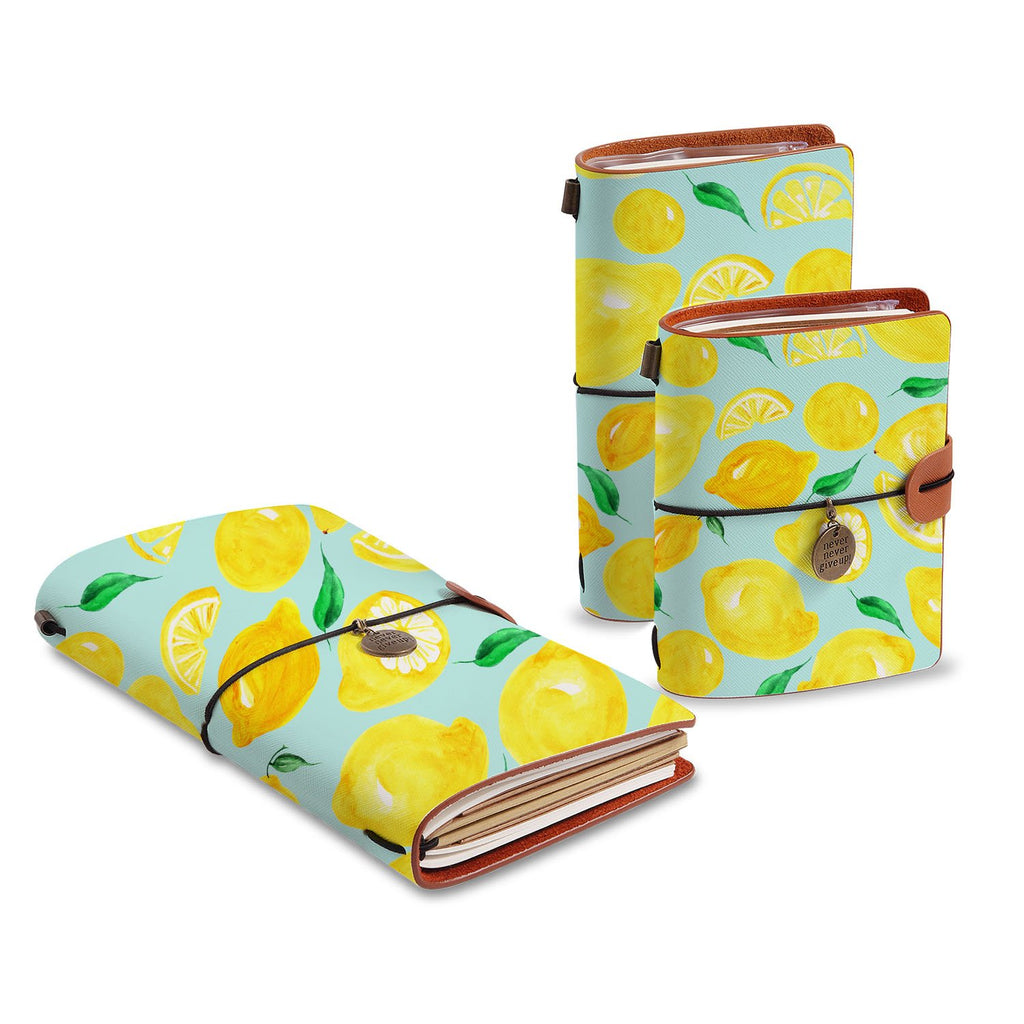 three size of midori style traveler's notebooks with Fruit design