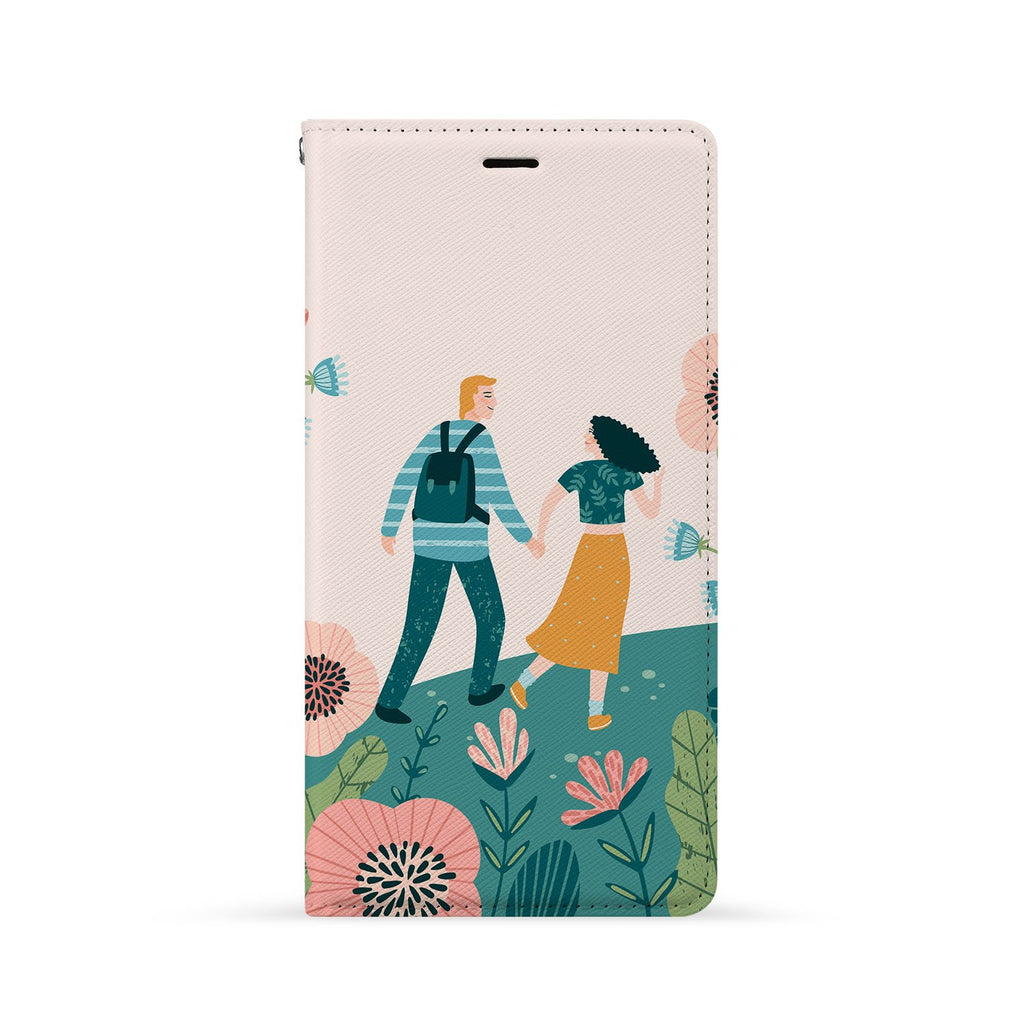 Front Side of Personalized Huawei Wallet Case with Love You Forever design