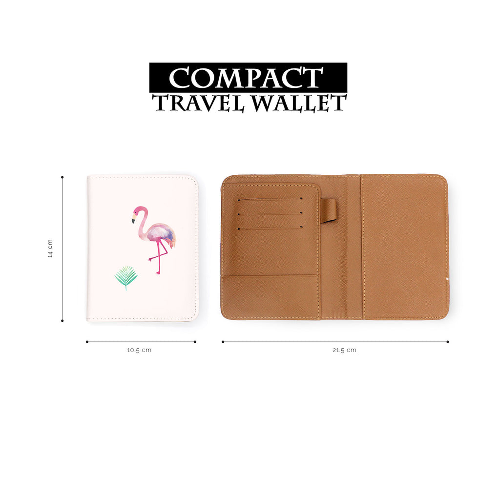 compact size of personalized RFID blocking passport travel wallet with Tropical Treasures design