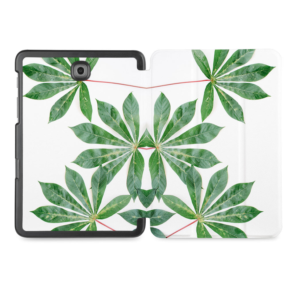 the whole printed area of Personalized Samsung Galaxy Tab Case with Flat Flower design