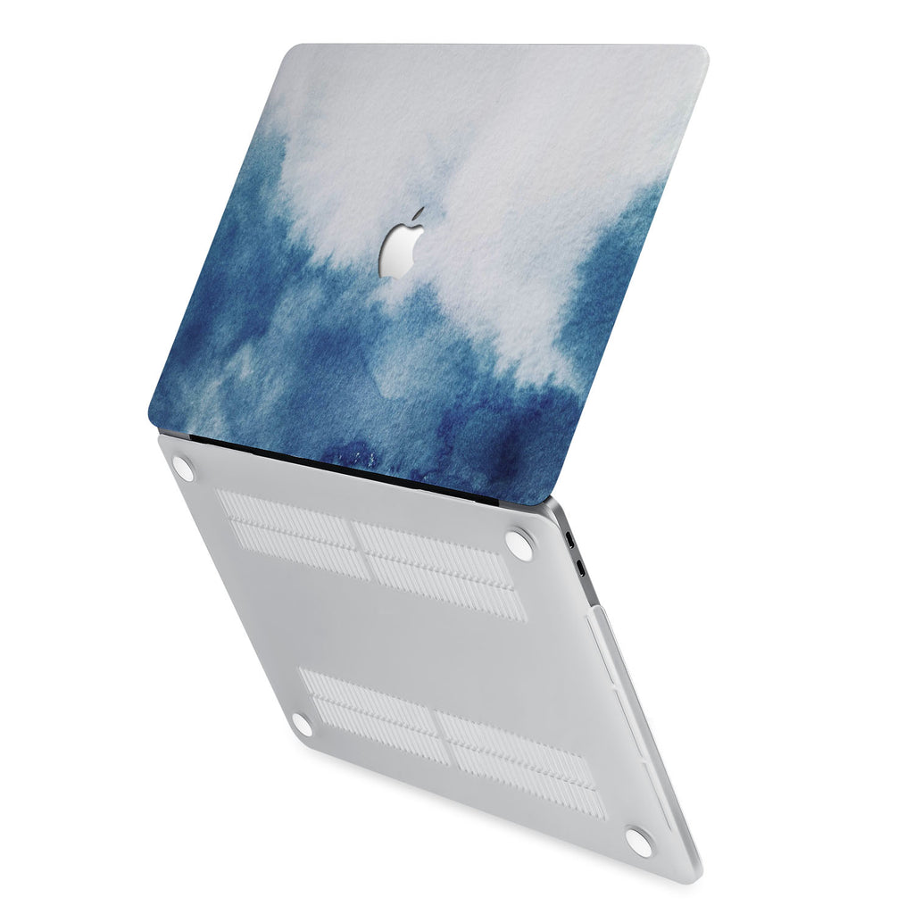 hardshell case with Abstract Ink Painting design has rubberized feet that keeps your MacBook from sliding on smooth surfaces