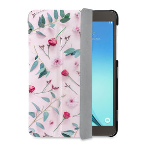 auto on off function of Personalized Samsung Galaxy Tab Case with Flat Flower 2 design - swap