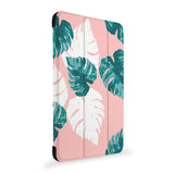 the side view of Personalized Samsung Galaxy Tab Case with Pink Flower 2 design