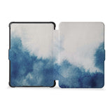 the whole front and back view of personalized kindle case paperwhite case with Abstract Ink Painting design