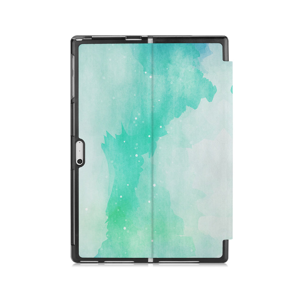 the back side of Personalized Microsoft Surface Pro and Go Case with Abstract Watercolor Splash design