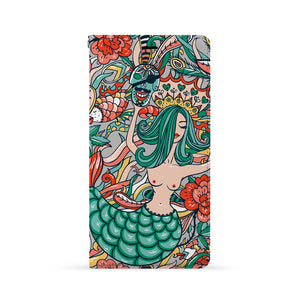 Front Side of Personalized iPhone Wallet Case with Mermaid design