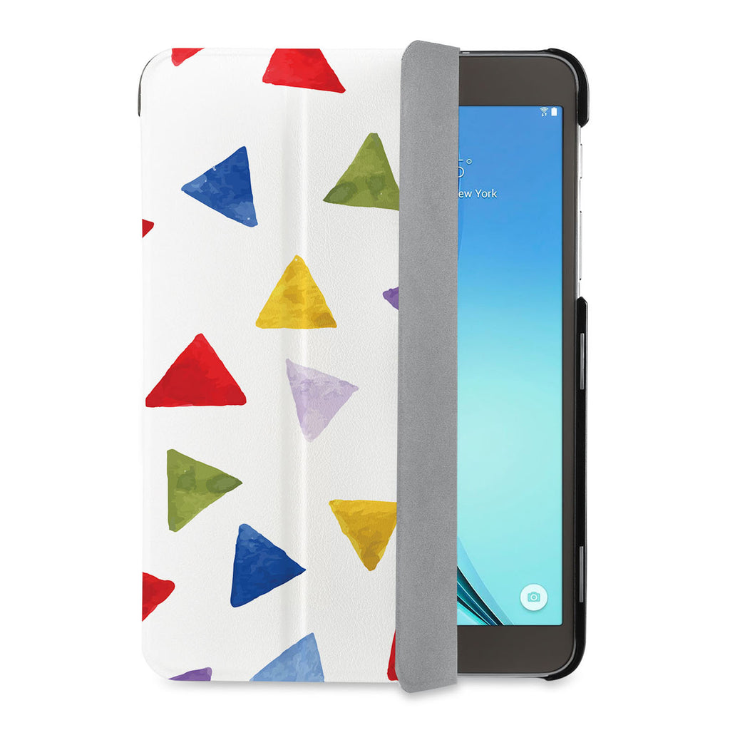 auto on off function of Personalized Samsung Galaxy Tab Case with Geometry Pattern design - swap