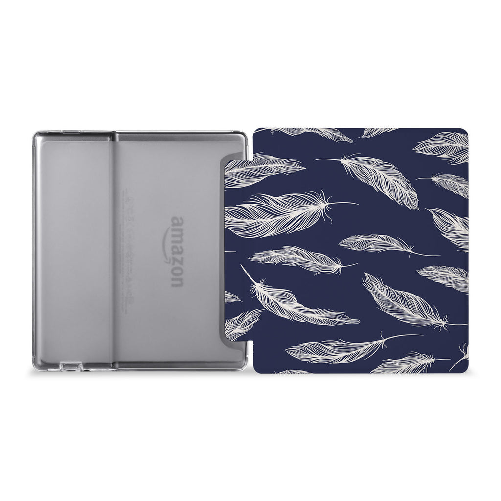 The whole view of Personalized Kindle Oasis Case with Feather design