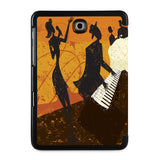 the back view of Personalized Samsung Galaxy Tab Case with Music design