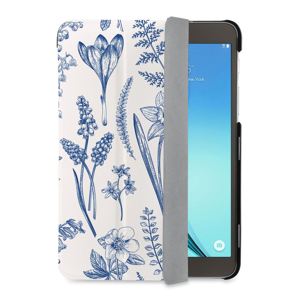 auto on off function of Personalized Samsung Galaxy Tab Case with Flower design - swap