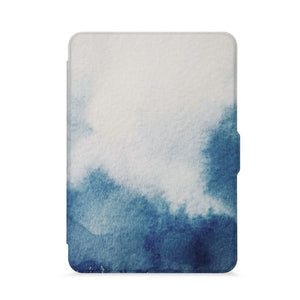 front view of personalized kindle paperwhite case with Abstract Ink Painting design - swap